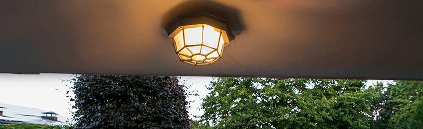 Plafond utebelysning