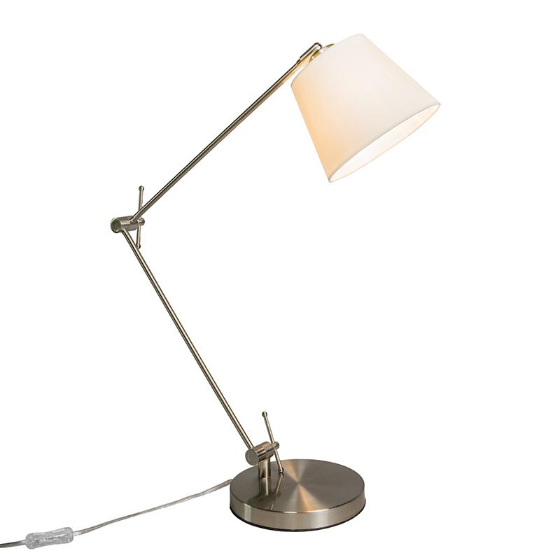 Bordslampa med svängarm 'Editor' Moderna stål Passande för