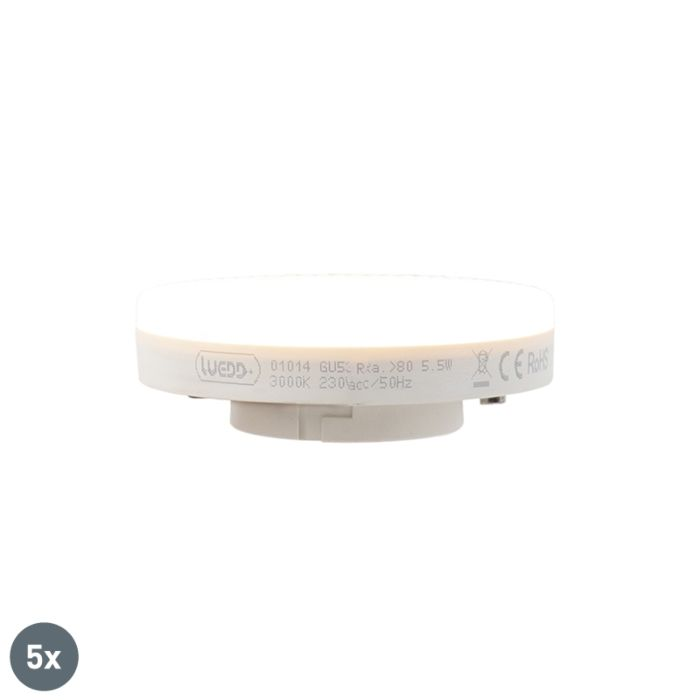 Uppsättning-av-5-GX53-LED-lampa-5.5W-470-lumen-3000K