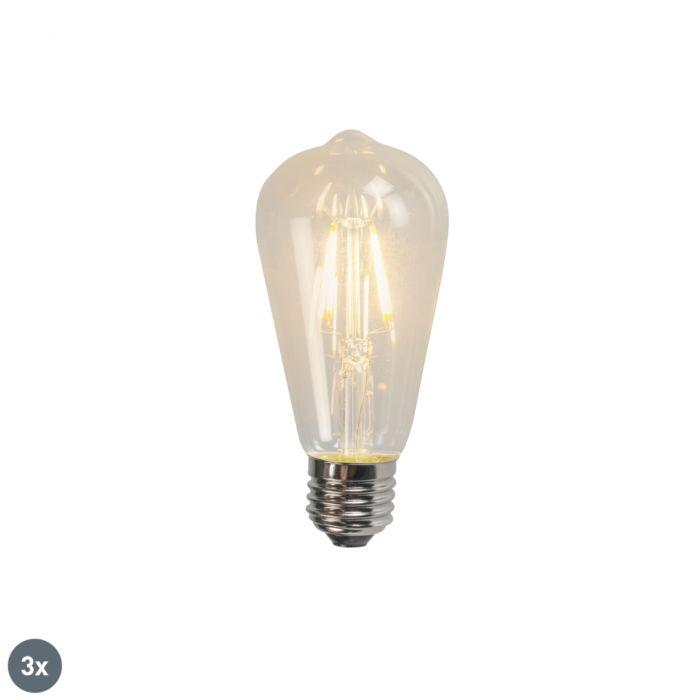 Uppsättning-av-3-E27-LED-glödlampa-ST64-4W-470LM-2700K