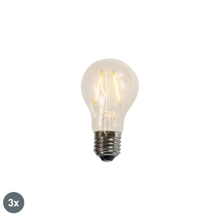Uppsättning-av-3-glödlampor-LED-lampor-A60-2W-2200K-klar