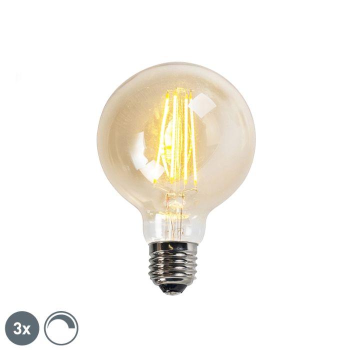 Uppsättning-av-3-E27-dimbara-LED-glödlampor-goldline-G95-5W-450LM-2200K