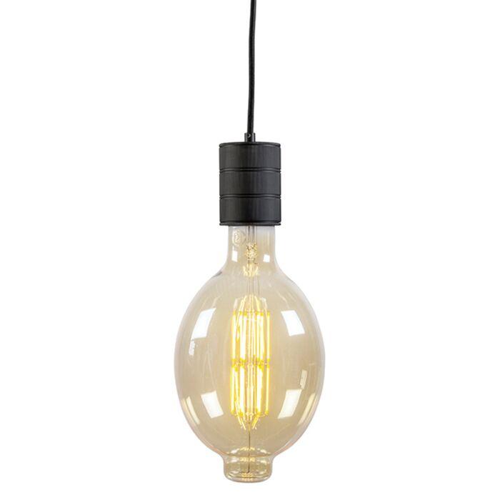 Taklampa-'E40-Pendant'-Retro-svart/metall---Passande-för-LED-/-Inomhus