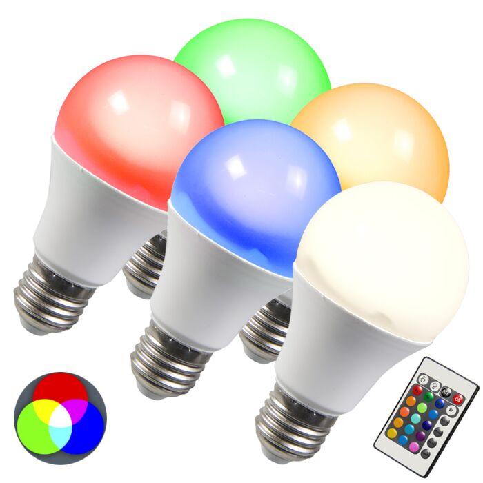 E27-LED-10-Watt-480-Lumen-Varmvitt,-RGB-(valbart)-Dimbar