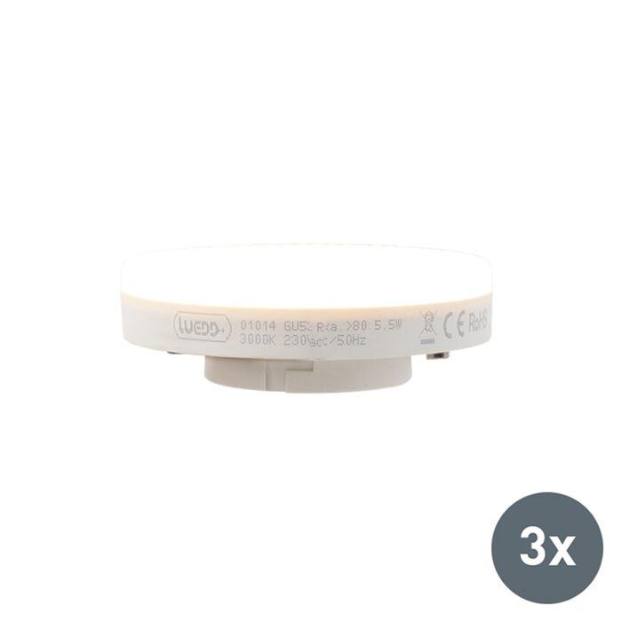 Uppsättning-av-3-GX53-LED-lampa-5.5W-470-lumen-3000K