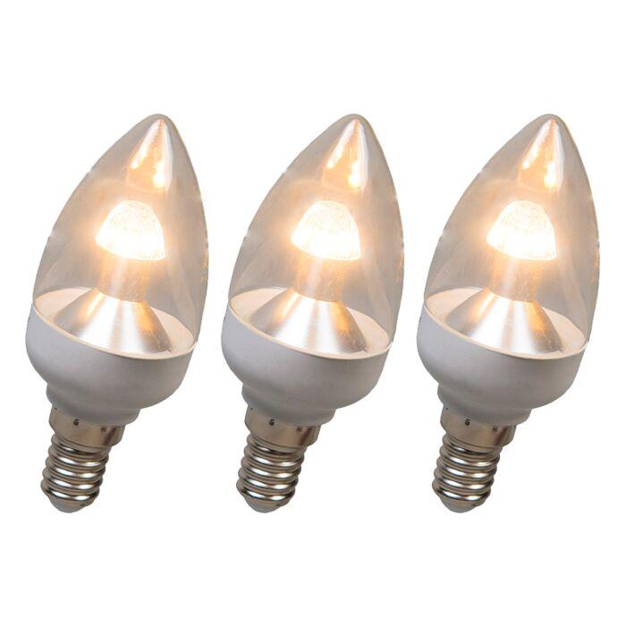 Kronljuslampa-E14-LED-4-Watt-250-Lumen-Varmvitt-Dimbar