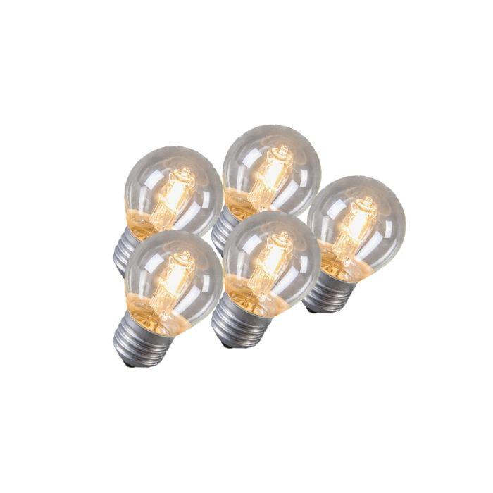 Klotlampa-E27-Halogen-42-Watt-630-Lumen-Varmvitt-Dimbar