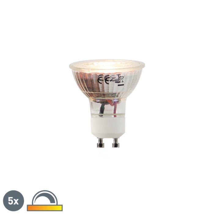 Uppsättning-av-5-LED-lampor-GU10-5W-2000-2700K-Dim-till-varm