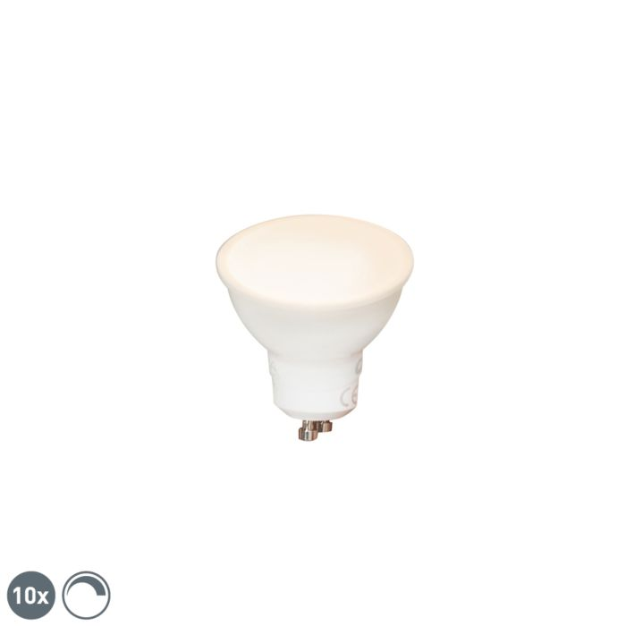 Uppsättning-av-10-GU10-dimbara-LED-lampor-6W-450-lm-2700K