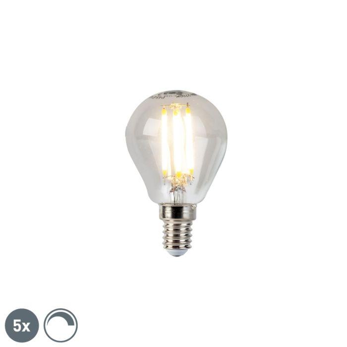 Uppsättning-av-5-E14-dimbara-LED-glödlampor-5W-470lm-2700K