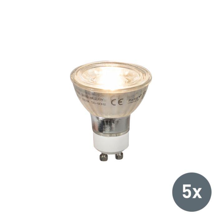 Uppsättning-av-5-GU10-LED-lampor-COB-5W-380lm-2700K