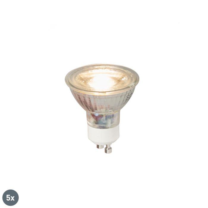 Uppsättning-av-5-GU10-LED-lampor-COB-5W-380LM-3000K