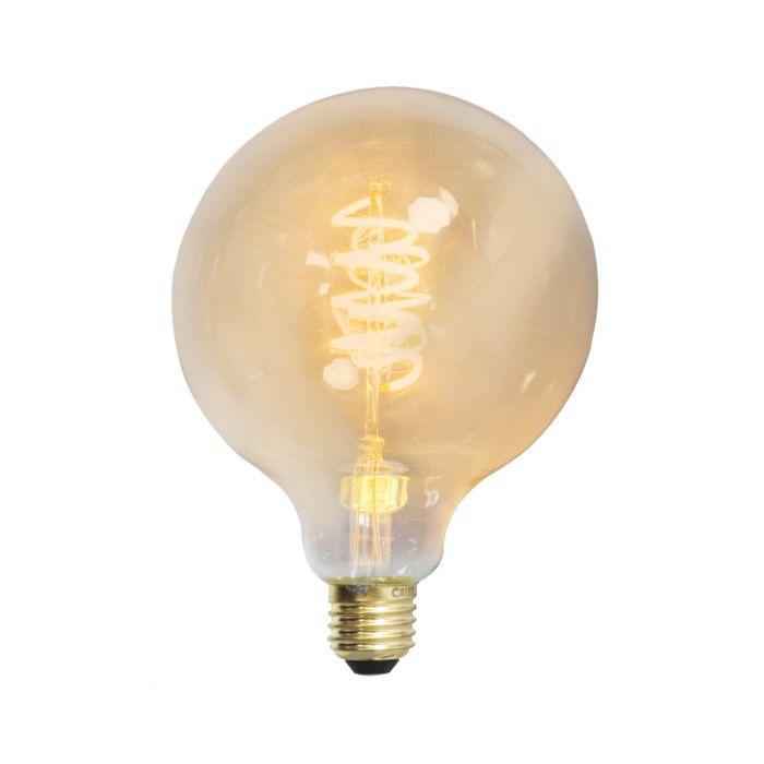 Uppsättning-av-3-E27-dimbar-LED-tvinnad-glödtråd-G125-guldlinje