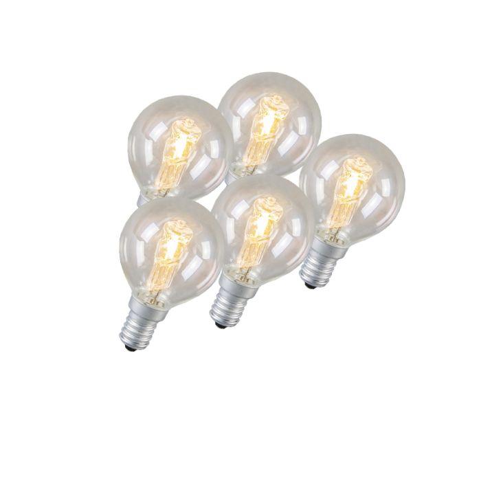 Klotlampa-E14-Halogen-42-Watt-630-Lumen-Varmvitt-Dimbar