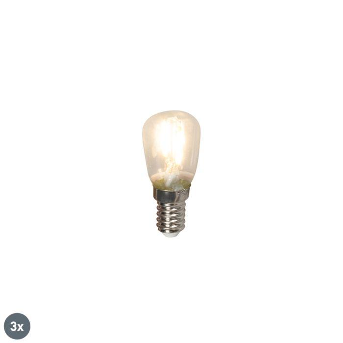 Uppsättning-av-3-E14-LED-glödlampor-T26-1W-100lm-2700-K