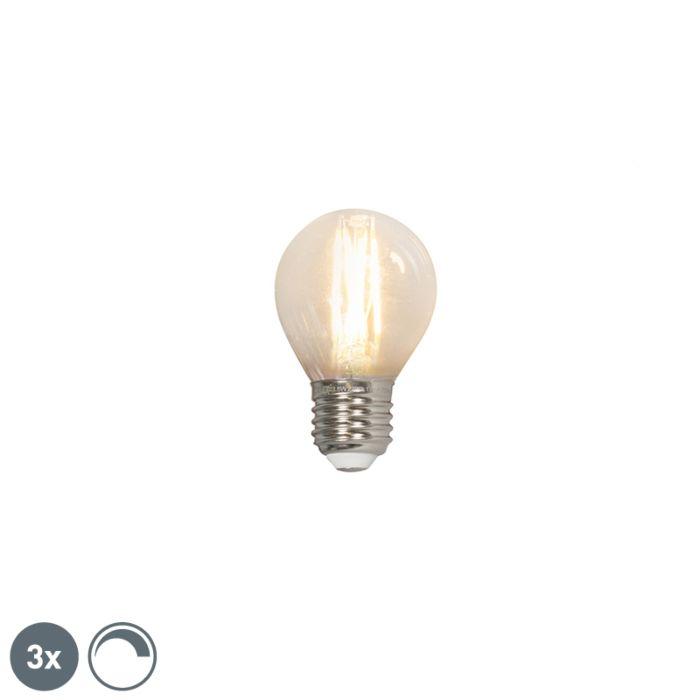 Uppsättning-av-3-LED-glödlampor-E27-240V-3.5W-350lm-P45-dimbar