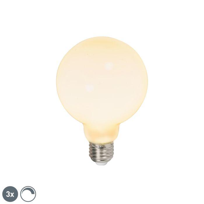 Uppsättning-av-3-LED-glödlampor-E27-240V-6W-650lm-dimbar
