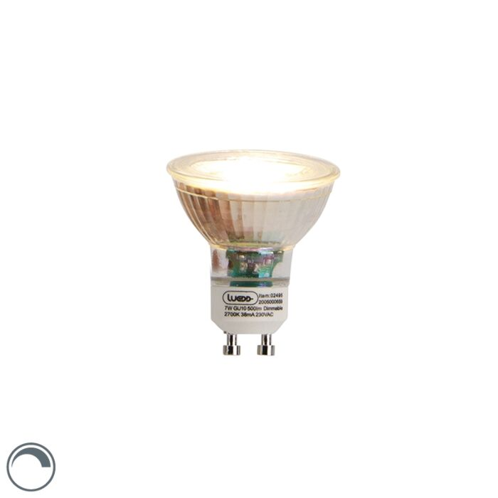 GU10-dimbar-LED-lampa-7W-2700K