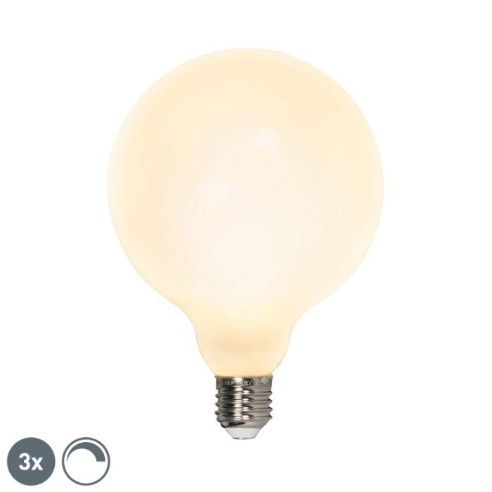 Uppsättning-av-3-LED-glödlampor-E27-240V-8W-900lm-dimbar