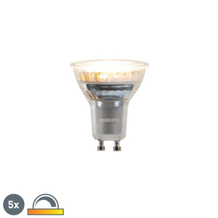 Uppsättning-av-5-GU10-dim-till-varm-Philips-LED-lampor-3,7-W-260-lm