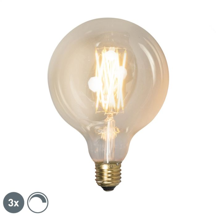 Uppsättning-av-3-E27-dimbara-LED-lampor-G125-goldline-320lm-2100-K
