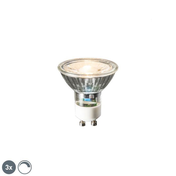 Uppsättning-av-3-GU10-LED-lampor-6W-450-lumen-2700K-dimbar