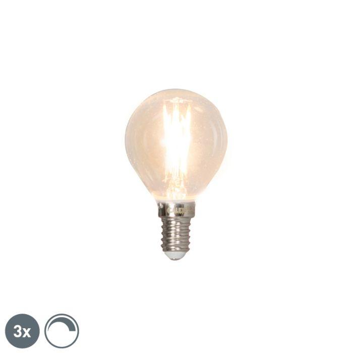 Uppsättning-av-3-E14-dimbara-LED-glödlampor-3W-350lm-2700K