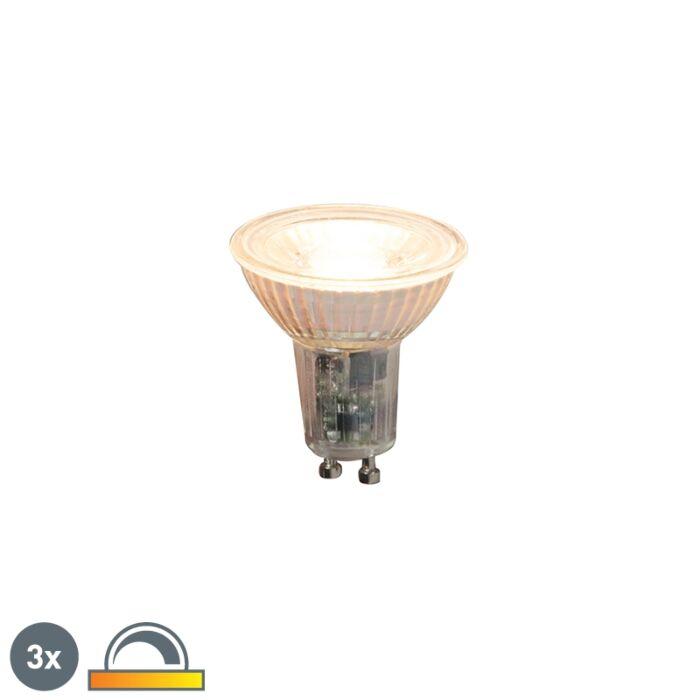 Uppsättning-av-3-GU10-dimbara-LED-lampor-5,5W-360lm-2000K---2700K