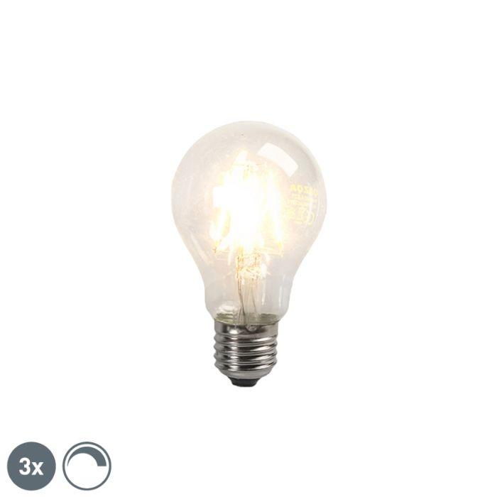 Uppsättning-av-3-LED-glödlampor-E27-4W-390lm-dimbar