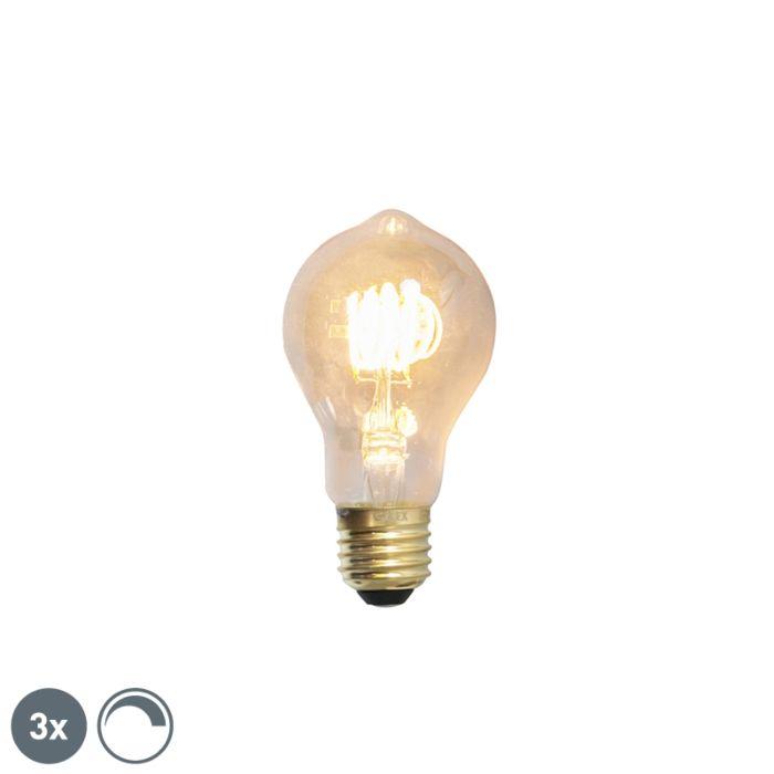 Uppsättning-av-3-E27-dimbara-LED-glödlampor-4W-200lm-2100-K
