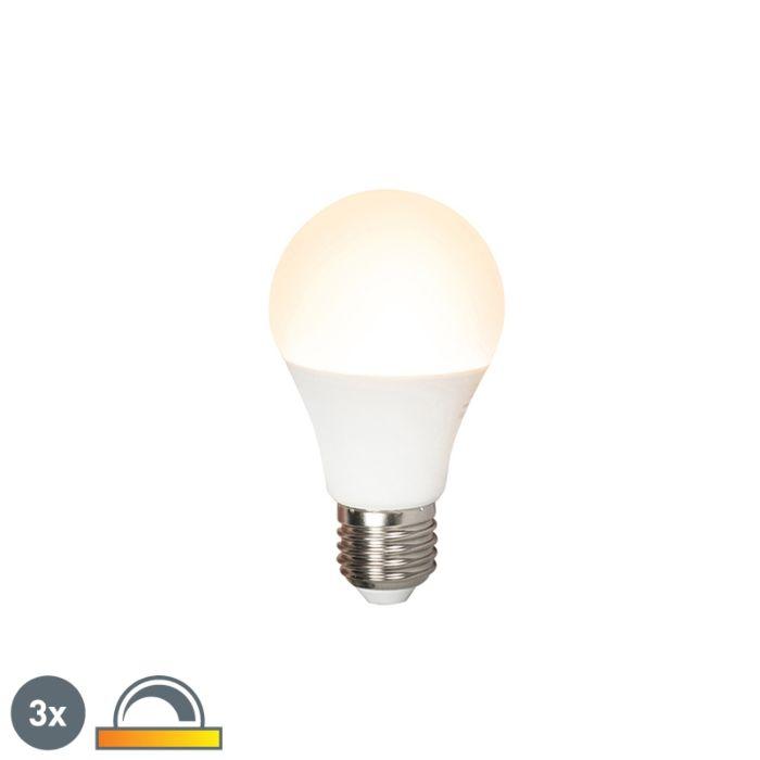 Uppsättning-av-3-LED-lampor-E27-240V-7W-510lm-A60-dimbar