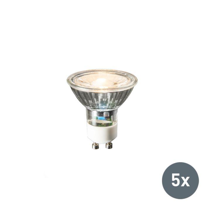 Uppsättning-av-5-GU10-LED-lampor-COB-3W-230lm-2700K