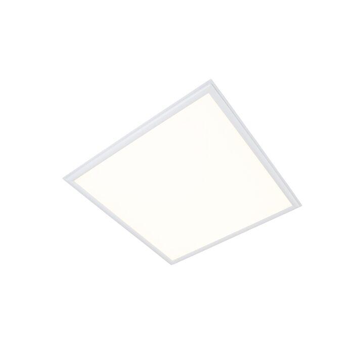 Plafond-'LED-panel'-Moderna-vit/polyester---LED-inkluderat-/-Inomhus