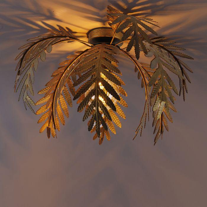 Vintage-taklampa-guld-45-cm---Botanica