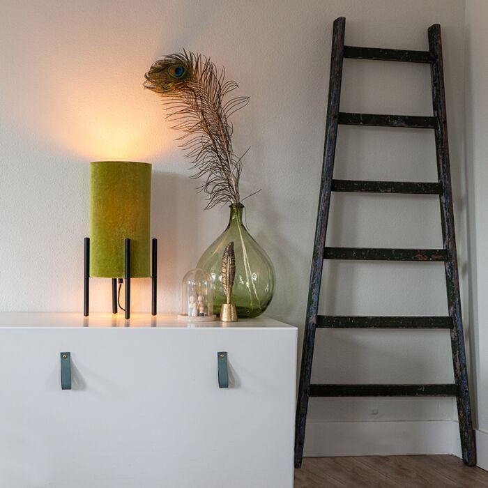 Design-bordslampa-svart-sammet-nyans-grön-med-guld---Rich