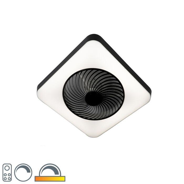 Takfläkt-fyrkantig-svart-inkl-LED-dimbar---Climo