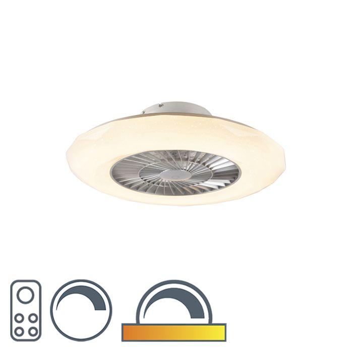 Takfläkt-silver-inkl-LED-med-stjärneffekt-dimbar---Clima