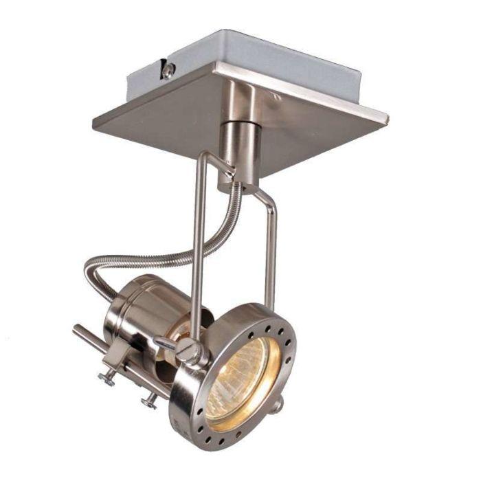 Plafond-strålkastare-'Suplux-1'-Industriell-stål---Passande-för-LED-/-Inomhus