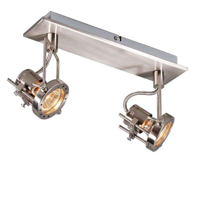 Plafond-strålkastare-'Suplux-2'-Industriell-stål---Passande-för-LED-/-Inomhus