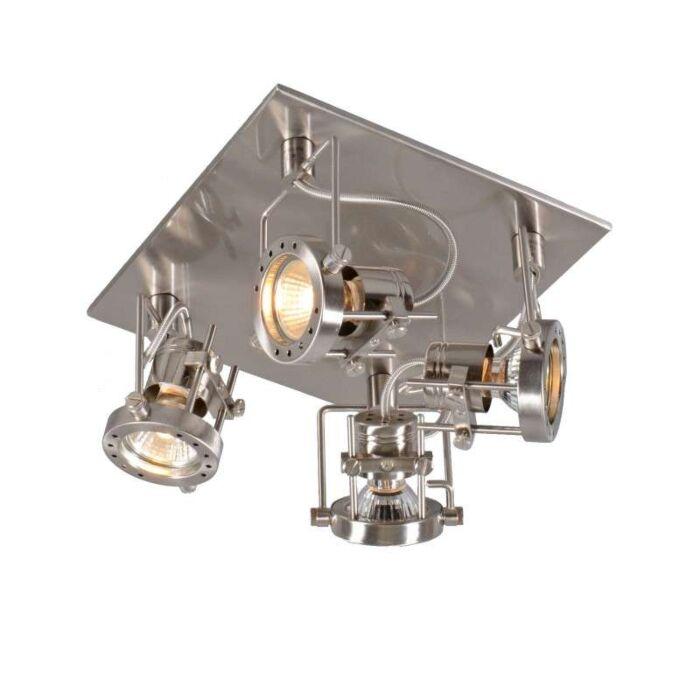 Plafond-strålkastare-'Suplux-4'-Industriell-stål---Passande-för-LED-/-Inomhus