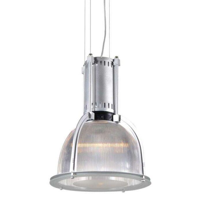 Taklampa-'Max'-Industriell-transparent/metall---Passande-för-LED-/-Inomhus