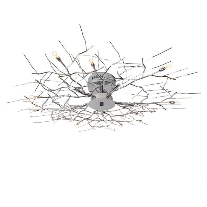 Stor-plafond-'Forest-10'-Moderna-krom---Passande-för-LED-/-Inomhus
