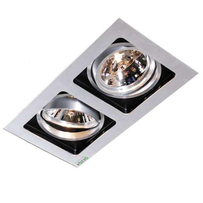 Spotlight/downlight-'Qure-2'-Design-aluminium---Passande-för-LED-/-Inomhus