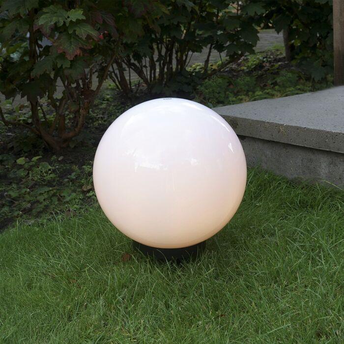 Modern-utomhuslampa-med-jordstift-30-cm-IP44---Glödlampa