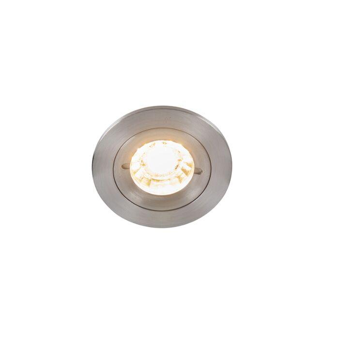 Modern-infälld-spot-aluminium-IP44---Xena-Round