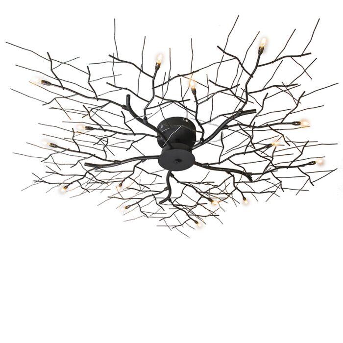 Stor-plafond-'Forest-15'-Design-brunrost/metall---Passande-för-LED-/-Inomhus