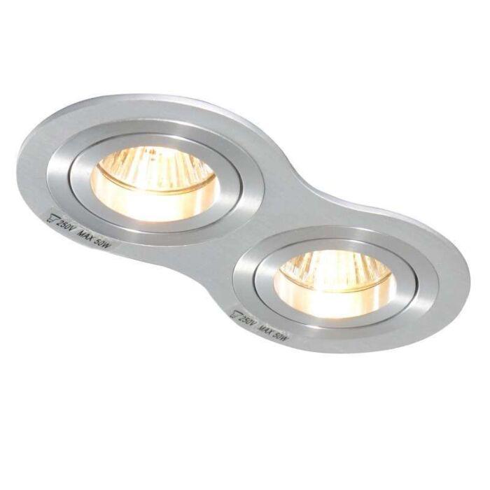 Spotlight/downlight-'Rondoo-2'-Moderna-aluminium---Passande-för-LED-/-Inomhus