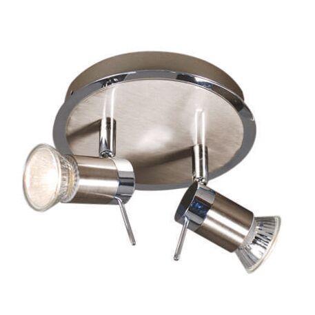 Plafond-strålkastare-'Detrem-2'-Moderna-stål---Passande-för-LED-/-Inomhus,-Badrum