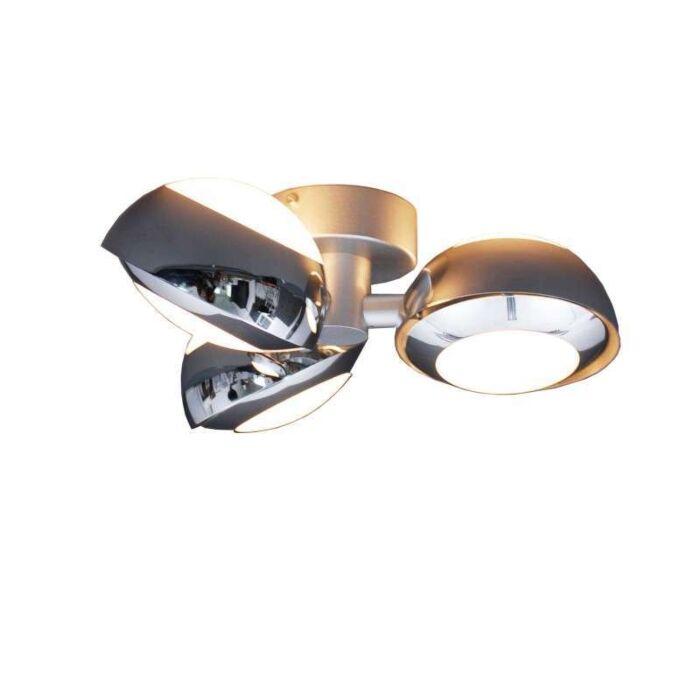 Plafond-'Curio-3'-Design-krom/aluminium---Passande-för-LED-/-Inomhus