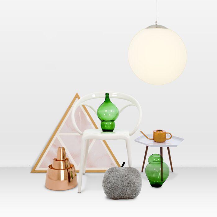 Modernt-hängande-lampglas-40cm---Boll